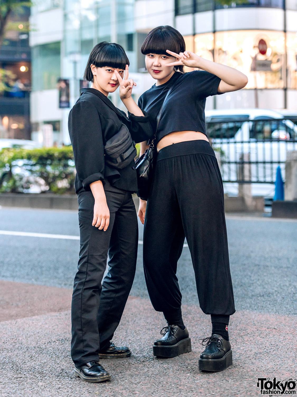 All Black Minimalist Streetwear Styles W Plaza South