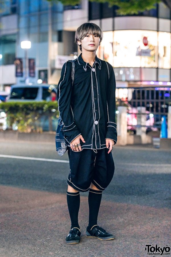 All Black Christopher Nemeth & Comme des Garcons Designer Street Fashion
