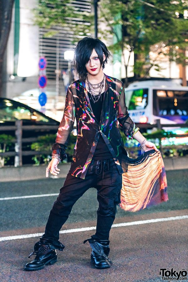 Tokyo Street Style w/ If Six Was Nine, Gunda, Justin Davis, Deal Design, Chain Necklace & Midas Fold Over Boots