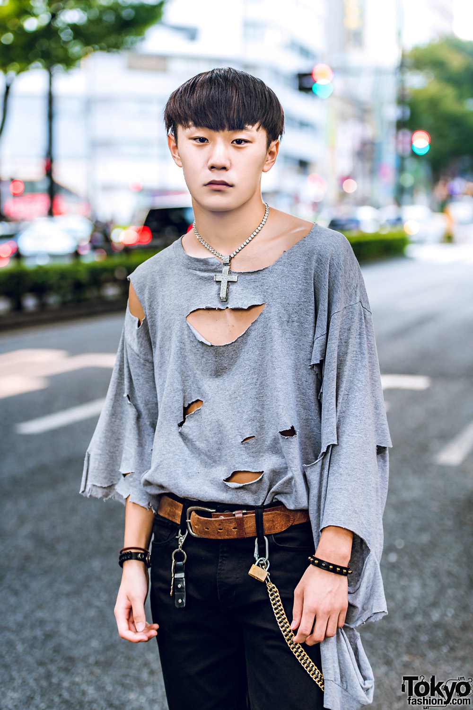 Harajuku Guys Colorful Hairstyles & Winter Street Fashion