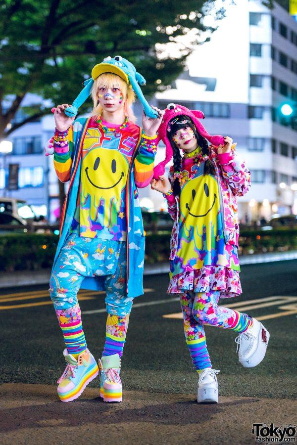 Kawaii Street Styles in Harajuku w/ Mixed Prints, 6%DOKIDOKI, Galaxxxy, Aesthetics Clothing, YRU, Yosuke, Poneycomb Tokyo & Fuzzy Monster Hats