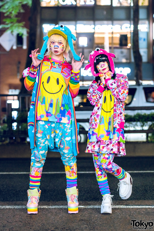 ae25d8f7df Kawaii Street Styles in Harajuku w/ Mixed Prints, 6%DOKIDOKI, Galaxxxy,  Aesthetics Clothing, YRU, Yosuke, Poneycomb Tokyo & Fuzzy Monster Hats