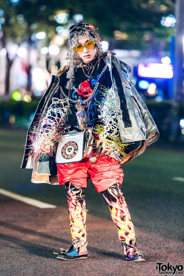 Dog Harajuku Fashion Fangophilia Rings Myob Nyc Bag: Harajuku Avant-Garde Streetwear W/ Safety Pin Headpiece