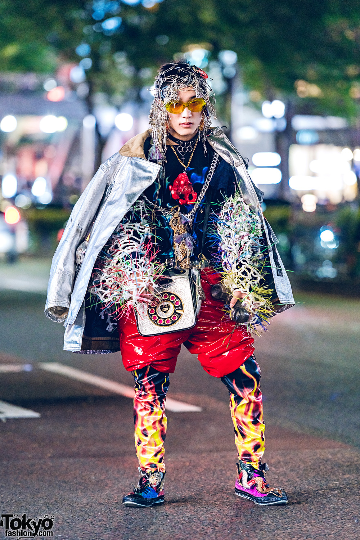 Harajuku Avant Garde Streetwear W Safety Pin Headpiece
