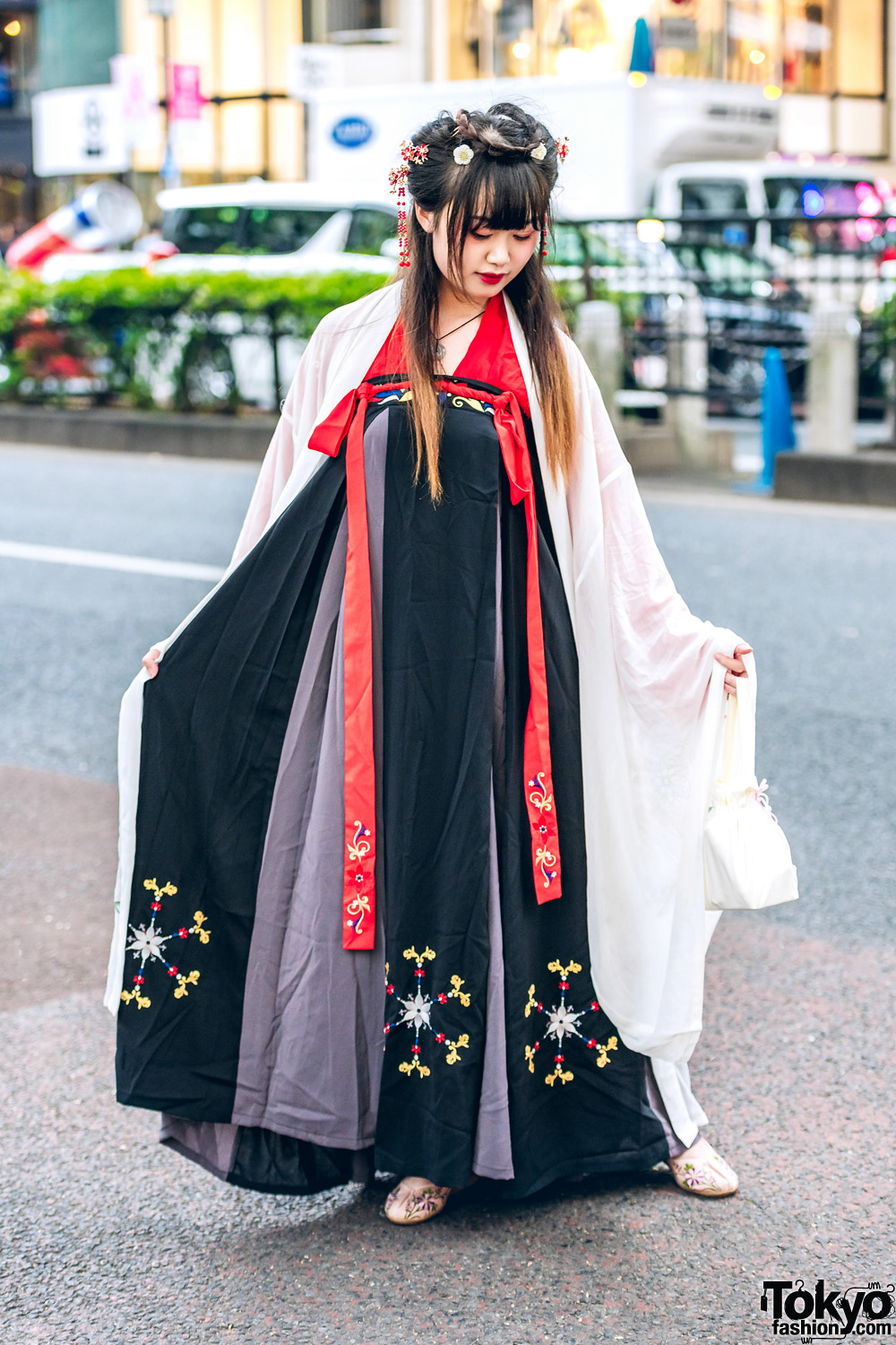 traditional chinese hanfu dresses amp floral hair