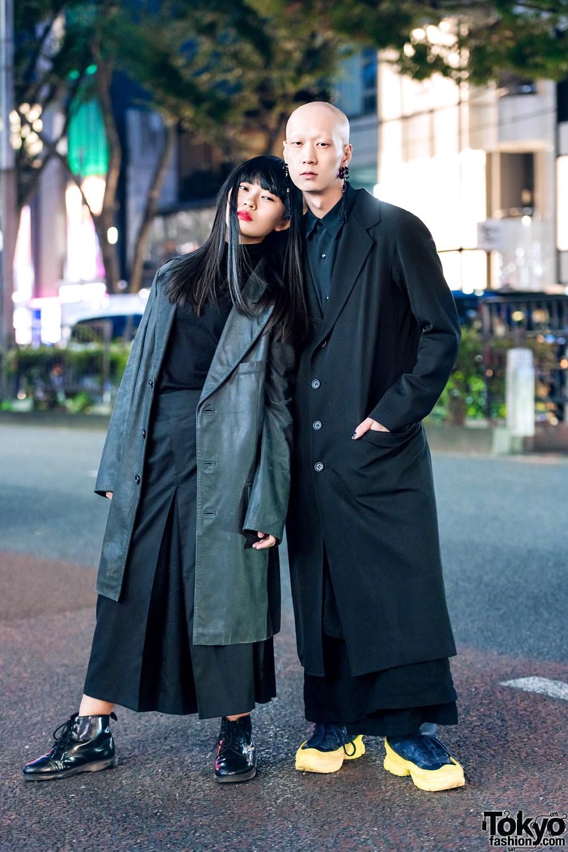 6af50d145ed Harajuku Duo s All Black Minimalist Street Styles w  Yohji Yamamoto