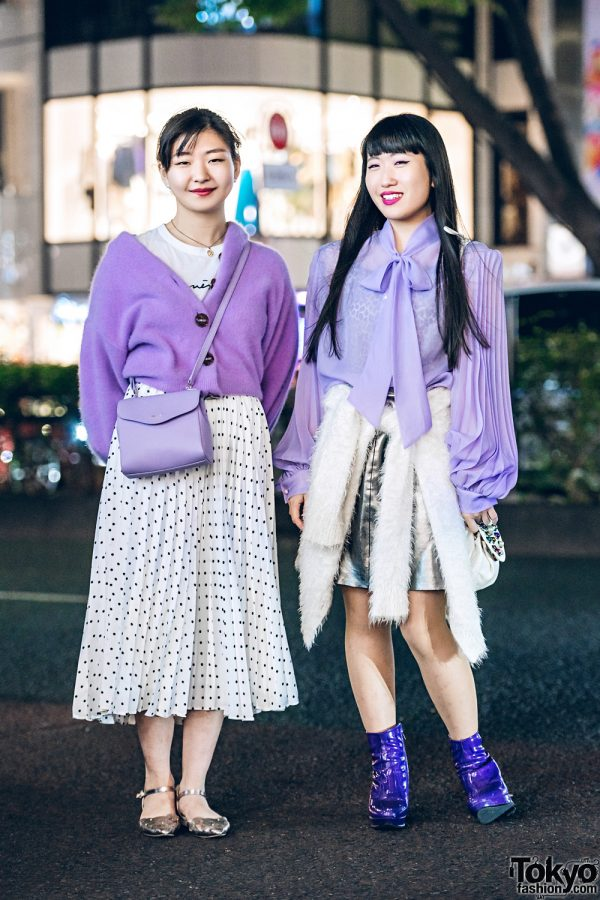 Chic Harajuku Girls Street Style w/ Snidel, Agnes B, Fuzzy Sweaters, Nuovo Flats, Vintage Boots, Lattice & Gallerie