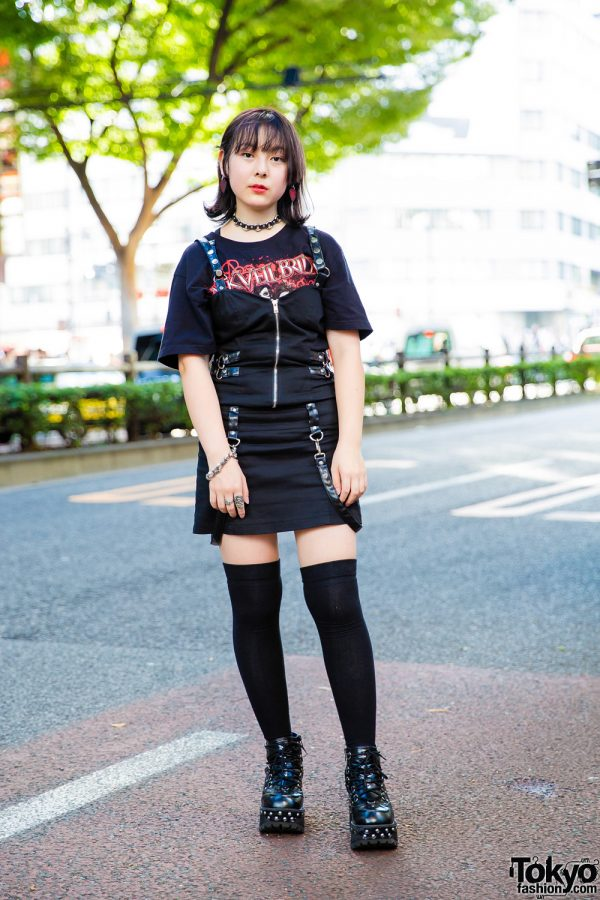 Edgy All Black Tokyo Street Style w/ Queen of Darkness, (Me) & Yosuke