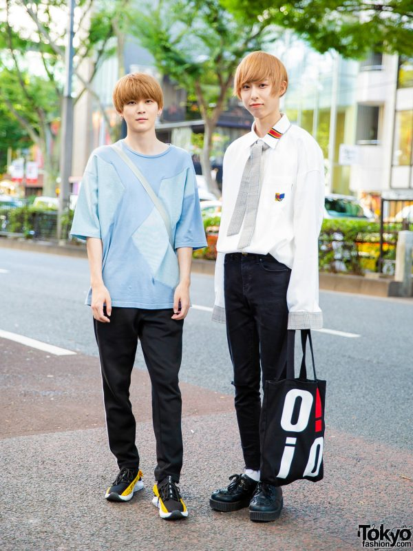 Harajuku Guys Street Styles w/ Blonde Bobs, Hare, Off-White, GU, Beauty & Youth, Romantic Crown & By O!Oi Tote Bag