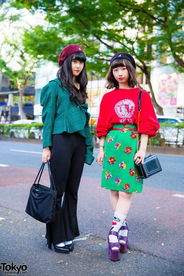Harajuku Vintage Street Styles w/ Versace, Epine, Emoda, Kangol, Dior, Prada & Gallerie Tokyo