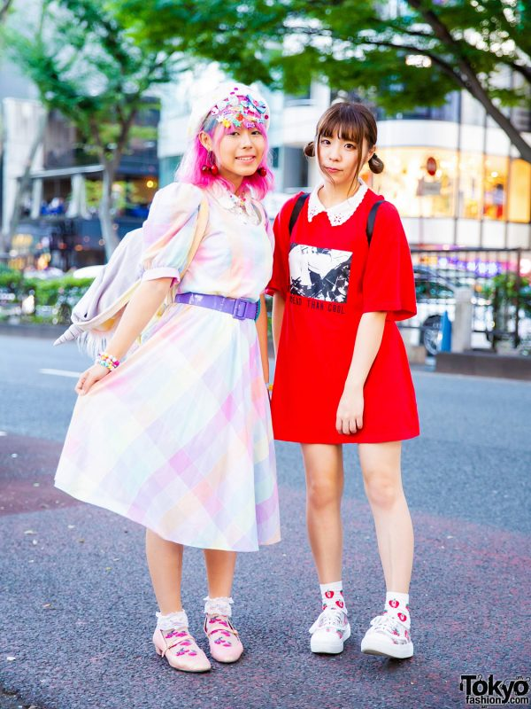 Harajuku Girls Street Styles w/ Pastel Dress, Kiki2, Codona De Moda Unicorn Backpack w/ Hood, Claire's, 6%DokiDoki, ME Harajuku, Jouetie, Romantic Standard & WEGO See Through Sneakers