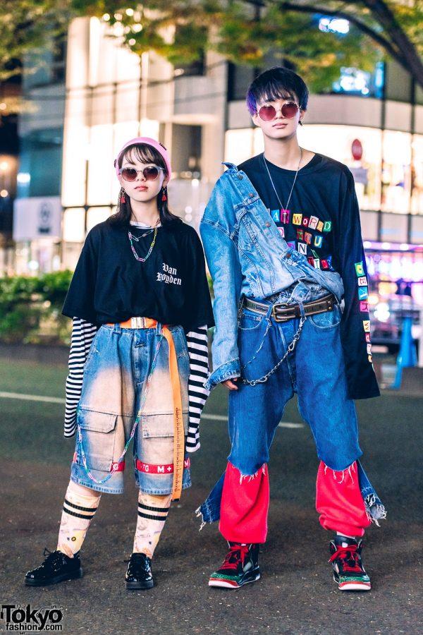 Harajuku Duo in Vintage Denim Japanese Street Styles w/ O.Well Kitakoshigaya, LHP & Levi's