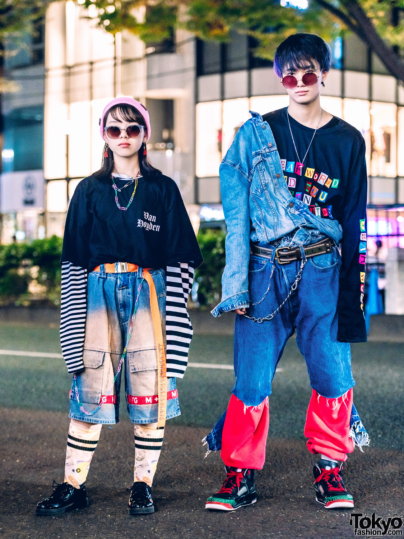 Harajuku Duo in Vintage Denim Japanese Street Styles w/ O.Well Kiyakoshigaya, LHP & Levi's