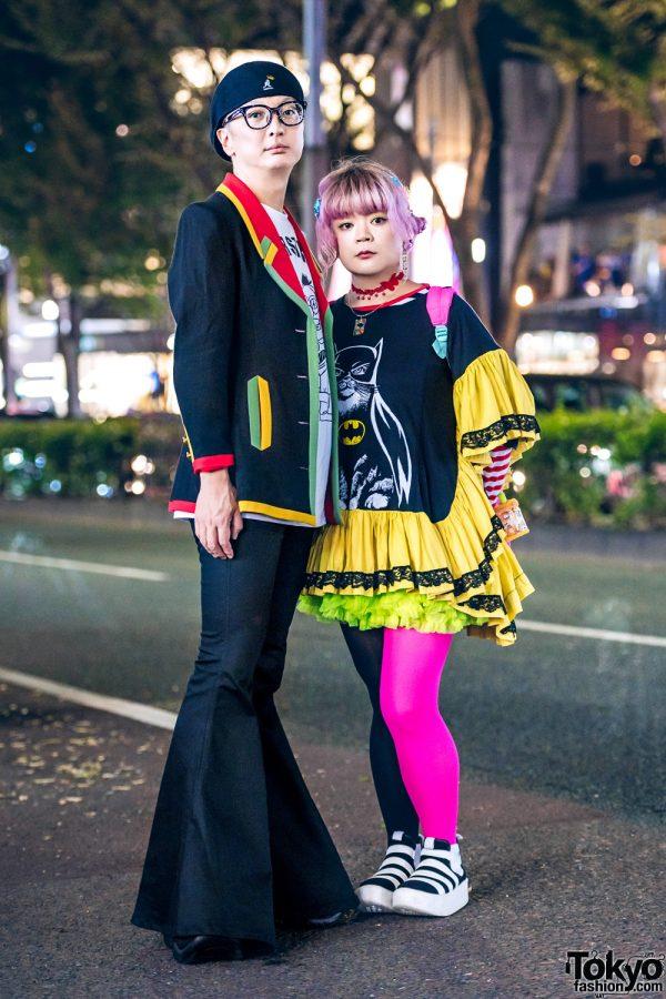 Harajuku Duo's Colorblock Streetwear Styles w/ Nincompoop Capacity, Kangol, Punk Cake, Demonia, Dangerous Nude, ACDC Rag & Tokyo Bopper