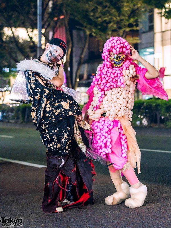 Avant-Garde Tokyo Streetwear Styles w/ Handmade Fashion, TKM6006@, Rowan, Venom, Rick Owens & Colorful Skull Face Mask