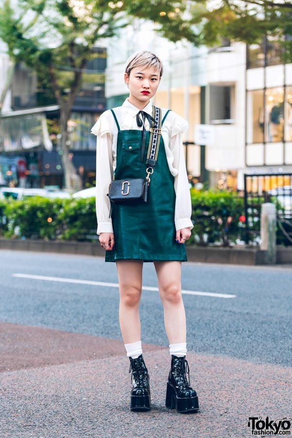 Harajuku Street Style w/ X-girl Jumper, Zara Blouse, Marc Jacobs Bag & Never Mind the XU Boots