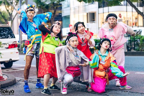 Kekenoke Performance Art Group in Colorful Handmade & Remake Styles Inspired by 1980s Harajuku Fashion