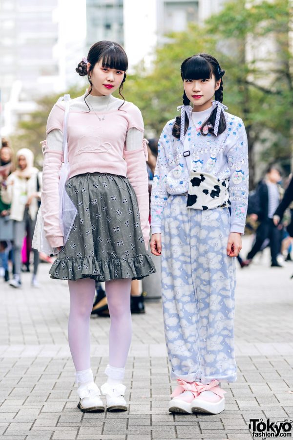 Kawaii Pastel Tokyo Street Styles w/ Otonacium Bunny Sweater, Happy Birthday To You Cloud Pants, Tokyo Bopper Shoes, Spank! Bag & Oh Pearl Necklace
