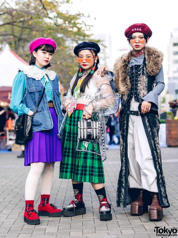 Japanese Teens in Vintage Street Styles w/ Yosuke, Gallerie, Spinns, WEGO, Ozz Croce & Diminish
