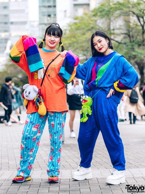 Tokyo Girls in Fun Colorful Street Styles w/ Casper T-Shirt, One W Oh, Cayhane, Kyuso Nekokami, RRR by Sugar Spot Factory, New York Joe, Kobinai & Yosuke