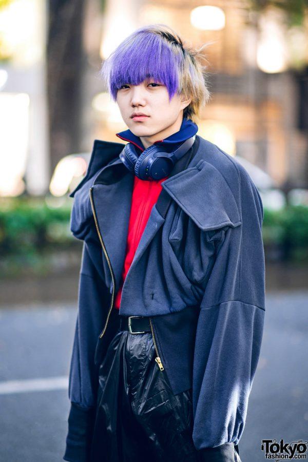 Tokyo Winter Menswear Street Styles W Purple Bangs Faith