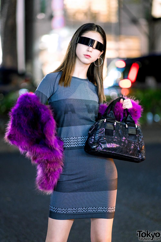 Harajuku Street Style W Futuristic Wrap Around Sunglasses