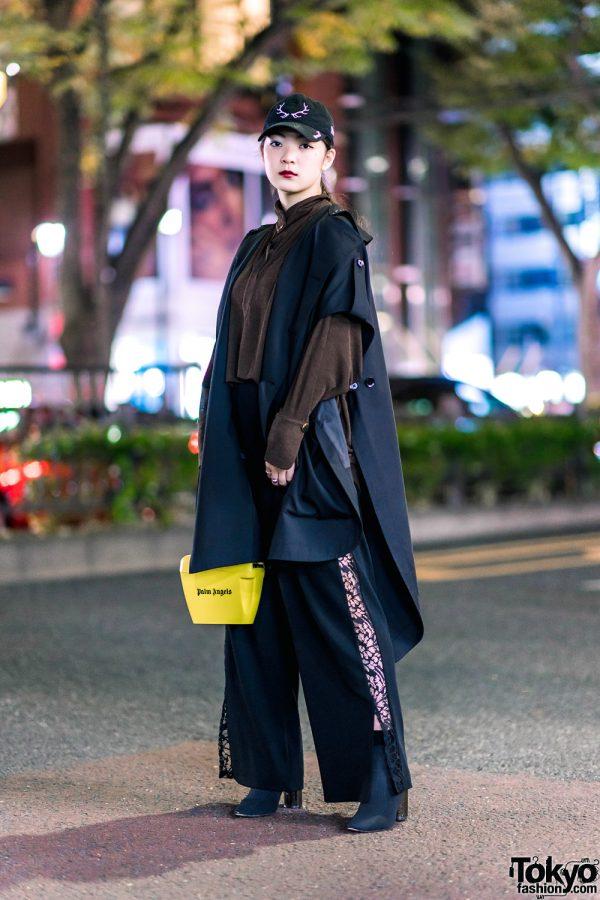 Harajuku Streetwear Style w/ Ground Y by Yohji Yamamoto, Issey Miyake, Palm Angels Handbag, Kinji & Marc Jacobs