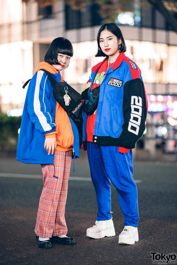 Colorful Harajuku Styles w/ Chicago, New York Joe, H&M, Yosuke, Puma, One W Oh NASCAR 2000 Jacket, Quicksilver, Pretty Boy Gear Waist Bag & Kobinai