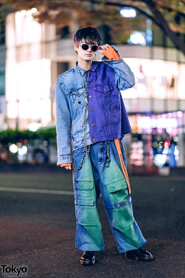 Tokyo Double Denim Streetwear Style w/ Levi's & Marithe + Francois Girbaud
