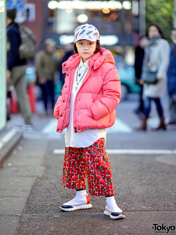 Coco Princess in Harajuku w/ Moncler for Unicef Jacket, Fendi Sock Shoes, Comme Des Garcons & Vintage Fashion