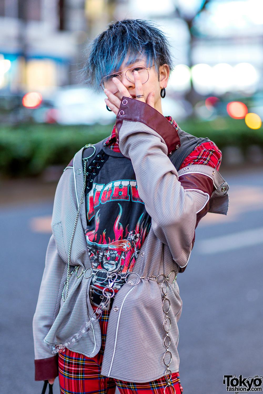 Harajuku Menswear Street Styles W Patent Red Puffer