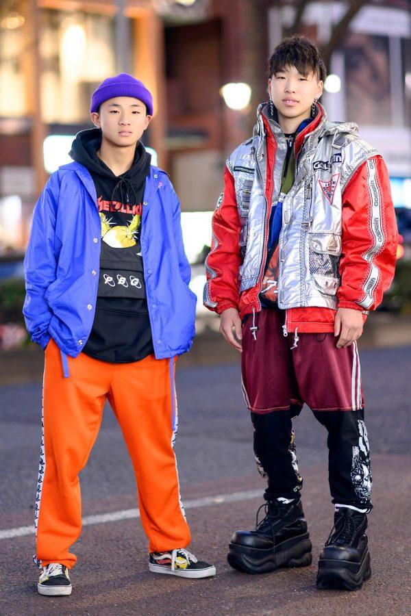Tokyo Teen Streetwear Styles w/ Dog Harajuku, Pretty Boy Gear, Reebok, Warp, Akira, Vans & Demonia