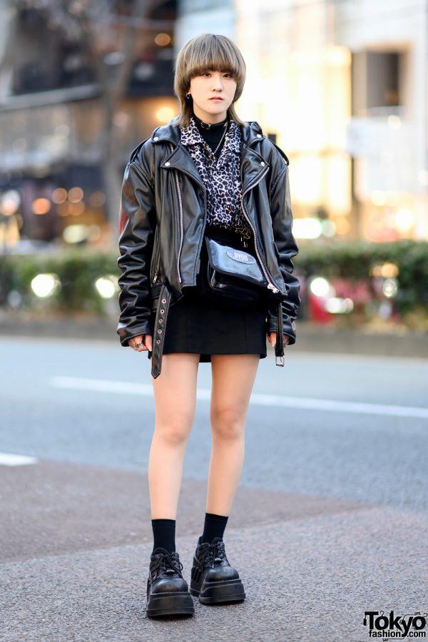 All Black Tokyo Street Style w/ Faith Tokyo, DYOG, Never Mind the XU, Demonia & Vivienne Westwood