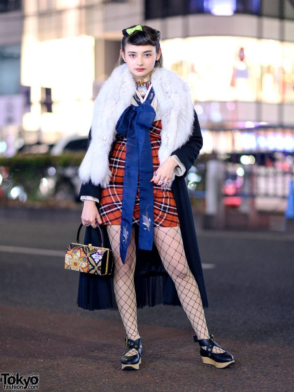 Harajuku Streetwear Style W Snidel Coat Amp Plaid Dress