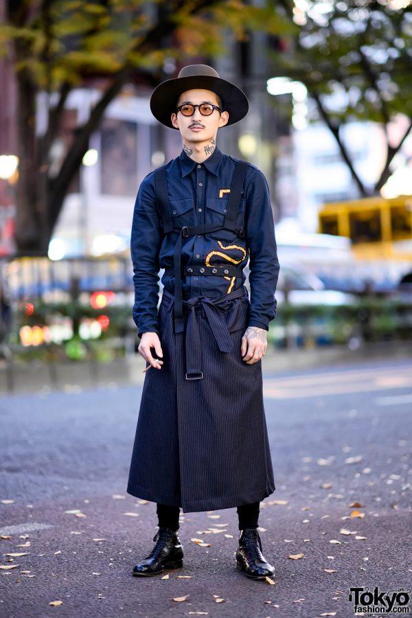 Retro Japanese Street Style in Harajuku w/ Dries Van Noten, The Fat Hatter & Vintage Fashion