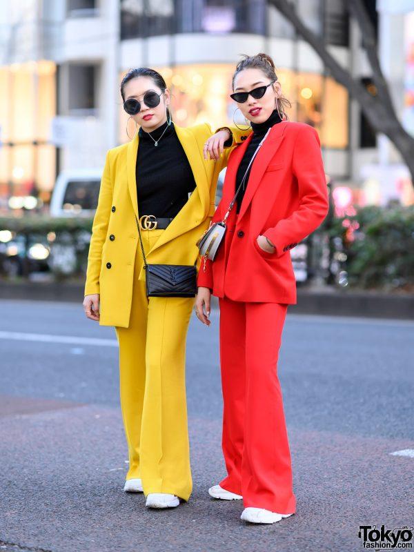 Colorful Women's Suits Styles in Harajuku w/ Zara, UNIQLO, YSL, Fendi, Gucci, Chanel, Chloe & Adidas