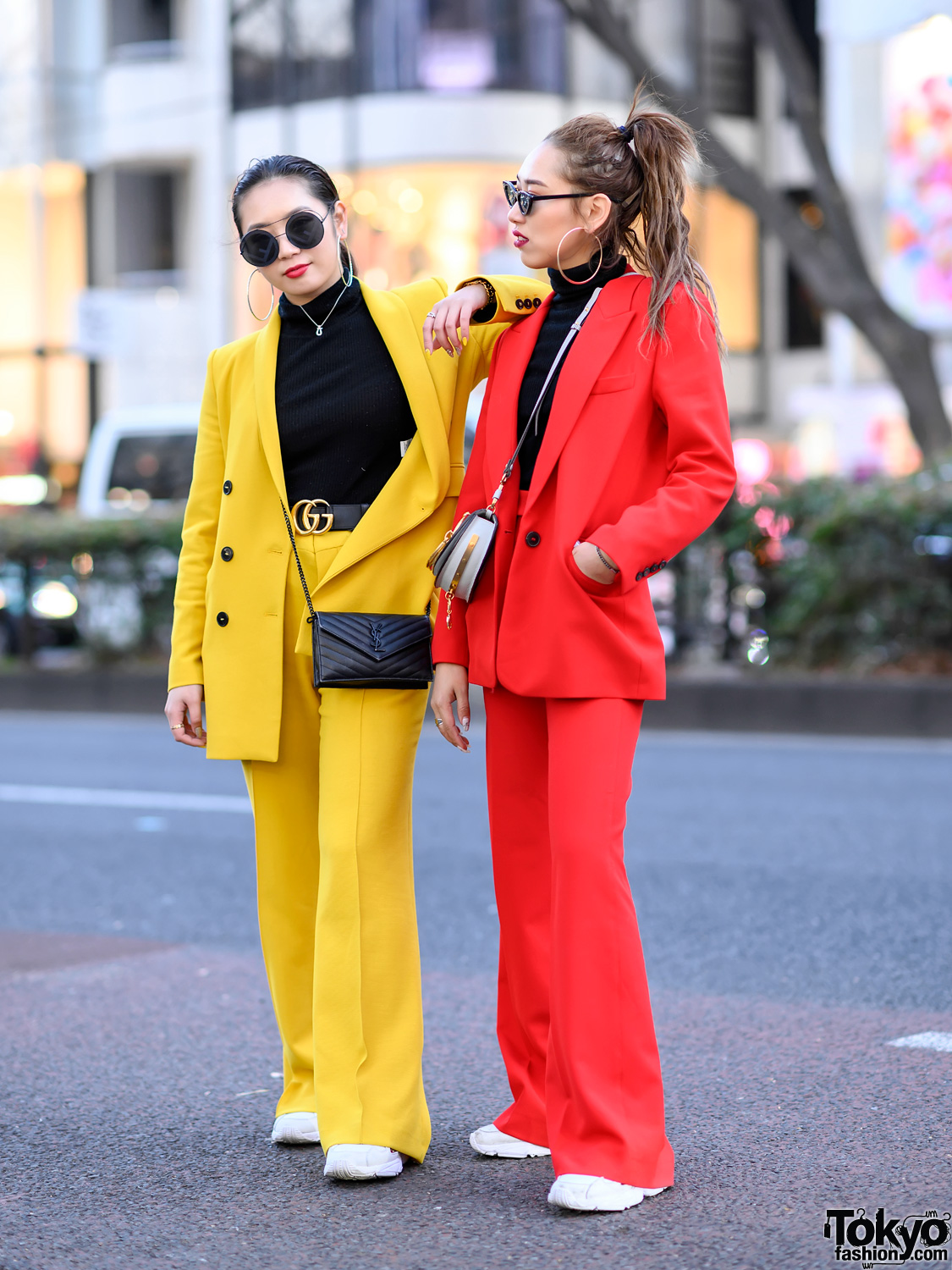 Colorful Women's Suits Styles in Harajuku w/ Zara, UNIQLO, YSL, Fendi, Gucci, Chanel, Chloe & Adidas