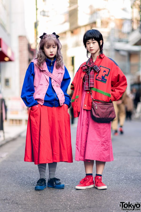 Harajuku Girls Colorful Street Styles w/ Pink House, RRR, San To Nibun No Ichi Jacket, Russet, Converse & Mad Foot Sneakers