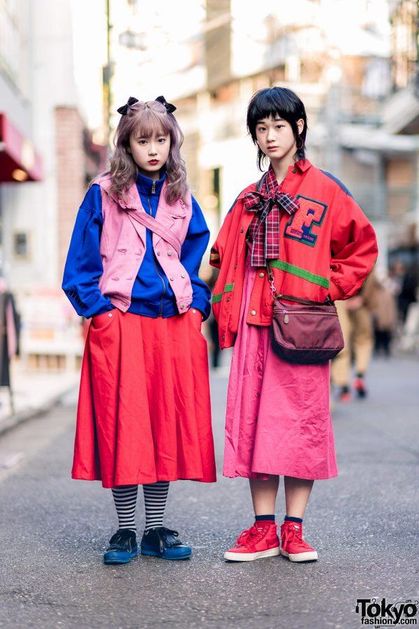 Harajuku Girls Colorful Street Styles w/ Pink House, RRR, San To Nibun No Ichi Jacket, Russet, Converse & Mad Foot Sneakers