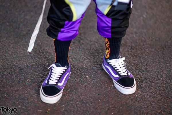 vans flame socks