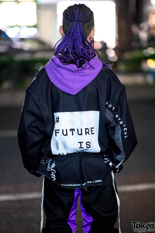 Bunker Tokyo Russian Streetwear Style W Purple Braids