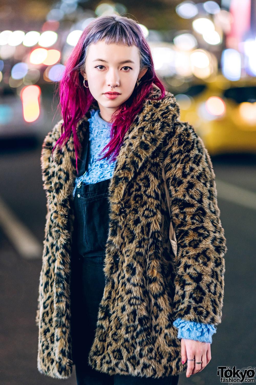 05dfc23b6ef0 Winter Harajuku Streetwear Style w/ Leopard Print Jacket, X-Girl ...