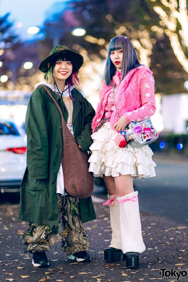 Harajuku Girls' Street Styles w/ Oh Pearl Camo Hat, Florida, Banny, Reebok, Pink Lady, Kinji & Club Lovage Leg Warmers