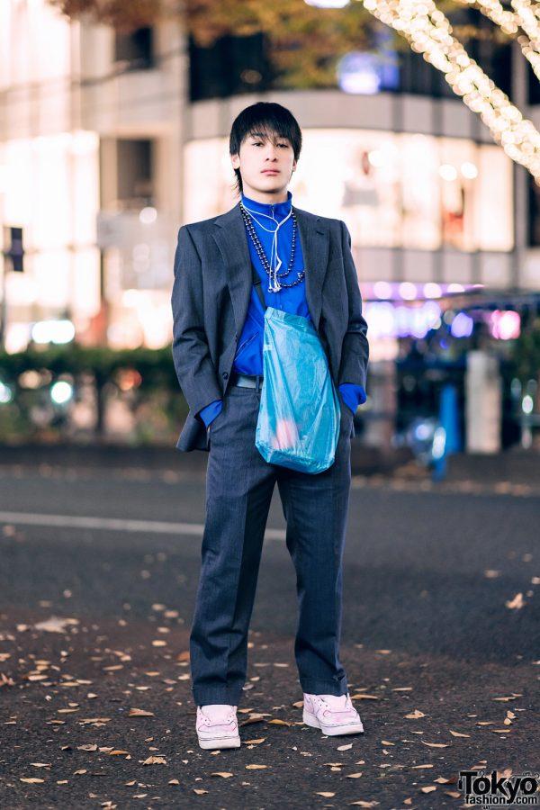 Tokyo Menswear w/ Grey Suit, John Lawrence Sullivan & Nike