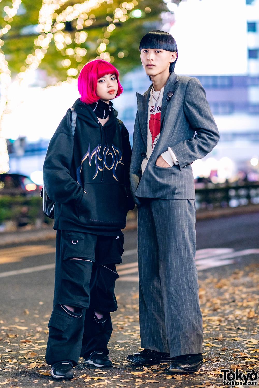 Harajuku Street Styles w/ Pink Bob, Billion Tokyo, MYOB, I.Am.Gia, 23.65 Sneakers, Ralph Lauren Suit, Unknown Section & Rick Owens