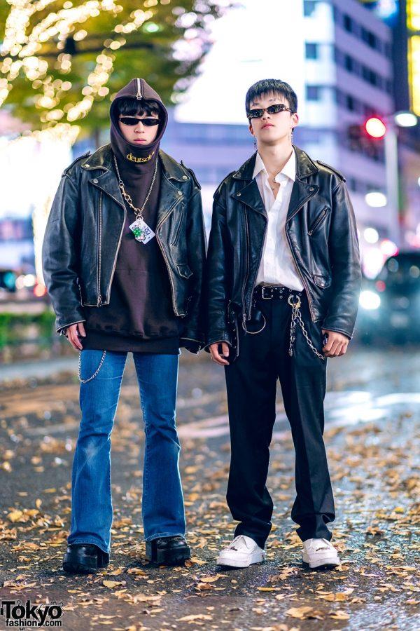 Tokyo Mens Street Styles w/ Motorcycle Jackets, John Lawrence Sullivan, Yosuke, Vaquera & Kidill Loafers