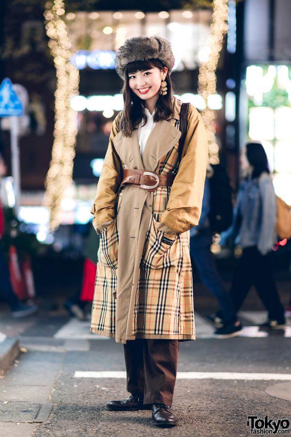 7b1a61ac29b5 HARAJUKU X CDMX: Harajuku Girl in Retro Style w/ Furry Hat, RRR ...