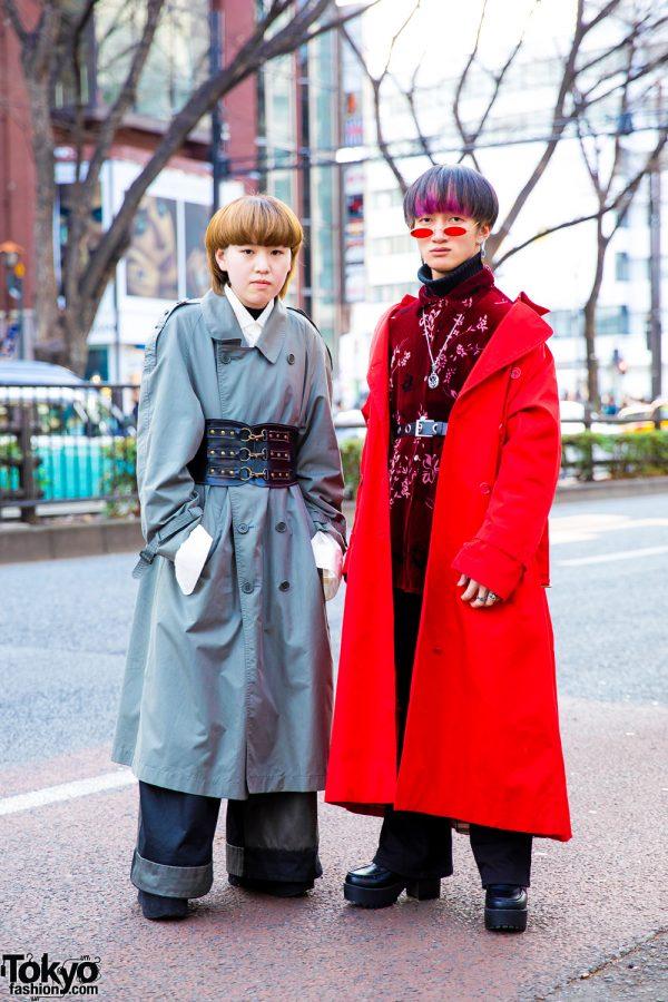 Tokyo Trench Coats Street Styles w/ Burberry, Emoda, Yosuke, Saad, Comme des Garcons, Bubbles, Vintage & Handmade Fashion