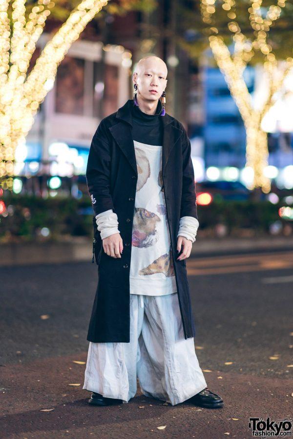 Japanese Musican & Model in Harajuku w/ Depression Coat, Nozomi Ishiguro, Vivienne Westwood & Dr. Martens Loafers