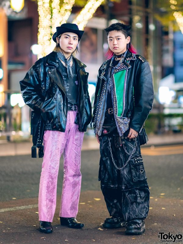 Harajuku Leather & Snakeskin Streetwear Styles w/ Cowboy Hat, Tripp NYC Cargo Pants, New Rock, BlackMeans, Prada, Never Mind the XU & Vintage Fashion